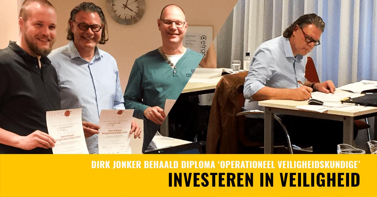 Dirk Jonker behaalt diploma Operationeel Veiligheidskundige - Jac. Barendregt
