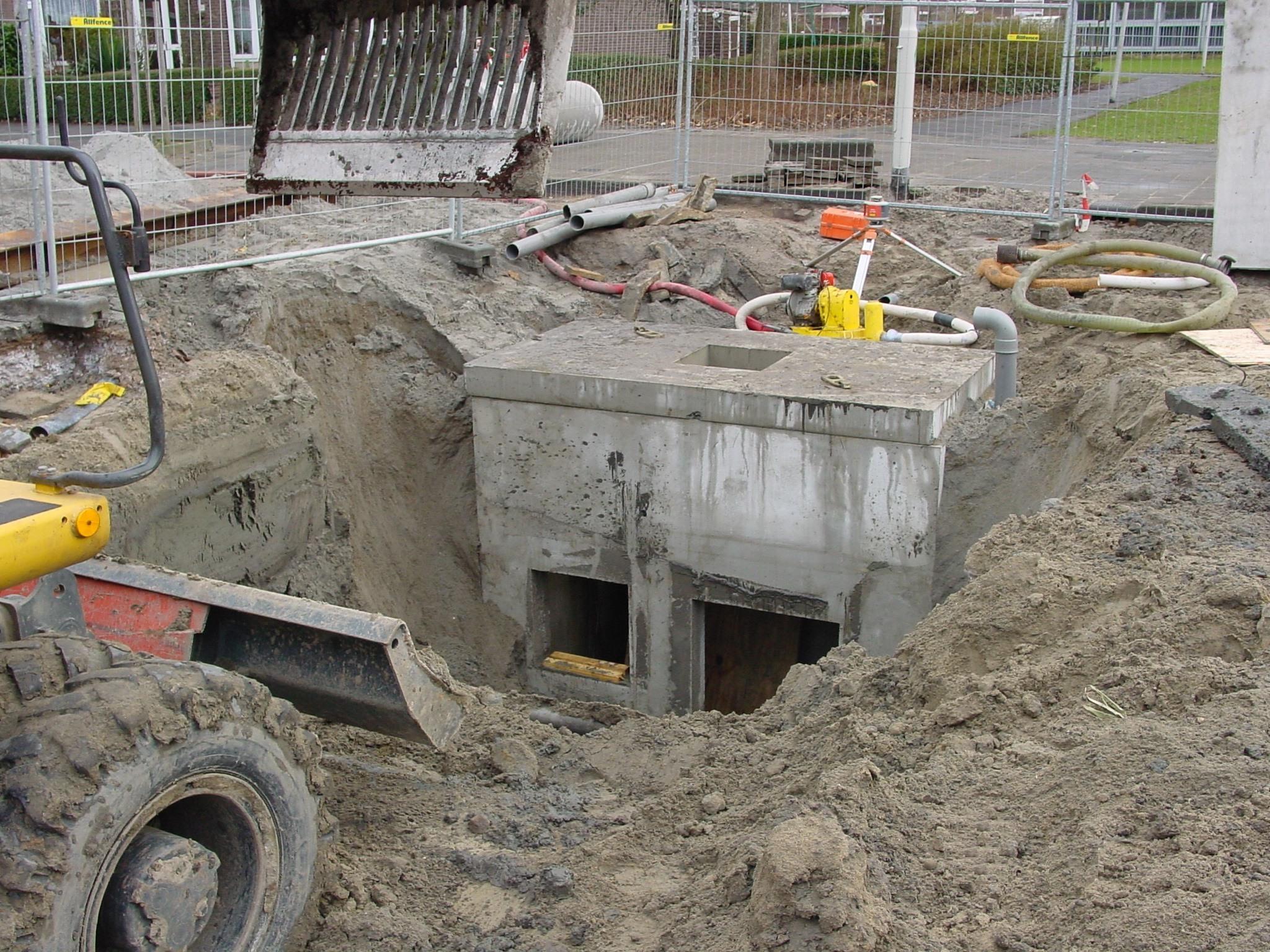 Project Marthalaan Hoogvliet riolering rioolput 2