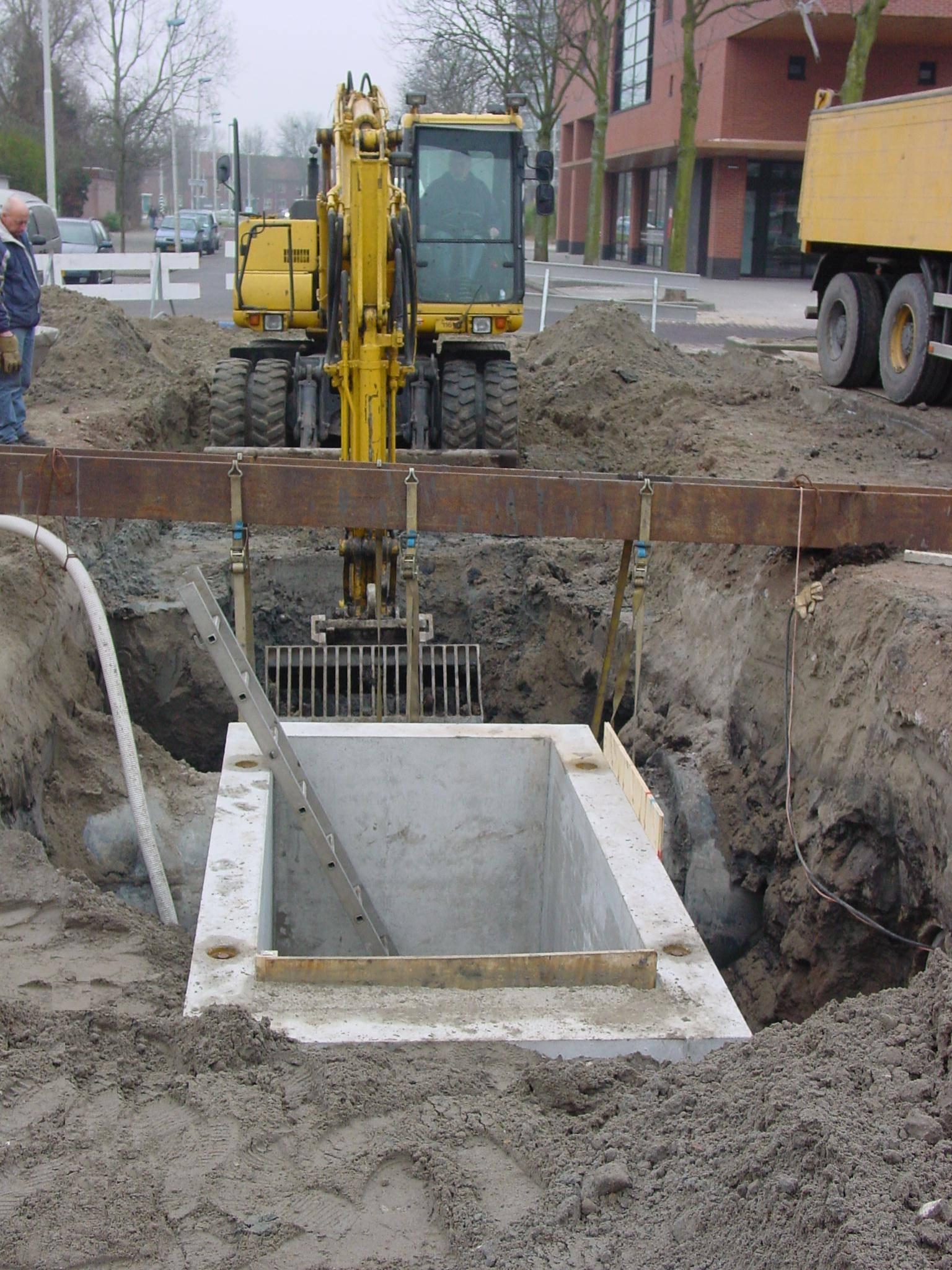 Project Marthalaan Hoogvliet riolering rioolput