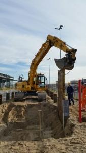 Ontgraven bouwput Dr. W. Kolb grondwerken Jac. Barendregt