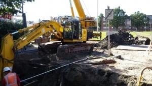 Doklaan Rotterdam riolering grondwerk